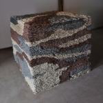 accumulation of dust made flesh | unfired clay & mixed media| 44in x 46in x 50in