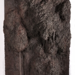 i am part of the load not rightly balanced   unfired clay & mixed media   panel 1: 75in x 38in x 9in