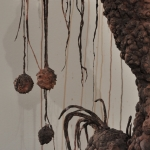 Polyanthroponemia (detail) | unfired clay & mixed media | site-specific installation (18ft x 25ft x 30ft)