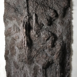Untitled (After Joan) | unfired clay, mixed media | 82in x 42in x 8in