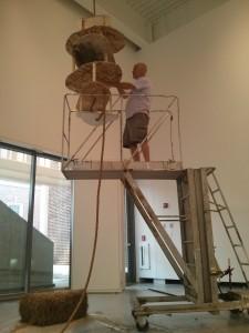 hoisting up the skeleton